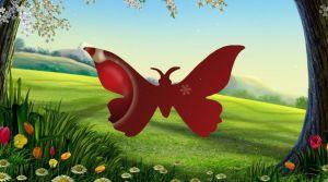 бабочка летит